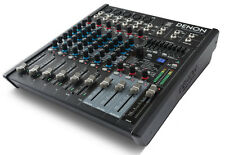 Denon Professional DN-408X 8 Channel 2 Bus Mixer USB 100 studio grade effects