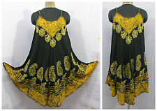 Bain de soleil hippie haut tunique robe boho beach kaftan festival taille 10 12 14 16