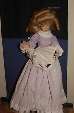 Franklin Mint Porcelain Doll Mother and Baby