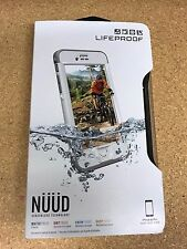 Authentic Lifeproof iPhone 6S PLUS Nuud White Waterproof Case Cover 77-52575 New