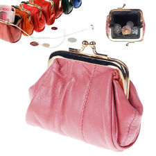 Fashion Genuine Leather Change Purse Coin Bag Women Wallet Mini Framed Coin Case