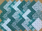 COTTON FABRIC PATCHWORK SQUARES PIECES CHARM PACK 2, 4, 5 INCH ~ BOTTLE GREEN