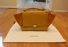Authentic Celine Trapeze Medium Ocre Yellow Bag Purse