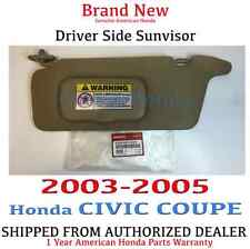 2003- 2005 Honda CIVIC COUPE Driver Side Sunvisor (IVORY) Genuine Factory OEM