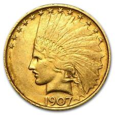 One 1907 $10 Indian Gold Eagle Xf - Wja11122 Lot 3176