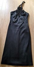 Ladies Black Halterneck Dress By Karen Millen Size 10 EXCELLENT CONDITION