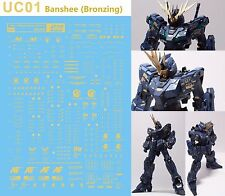 D.L high quality Bronzing Decal water paste For Bandai MG RX-0 Banshee UC01