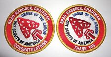 Order of the Arrow Chairman Brad Haddock Patch Set - 1974 National OA Chief