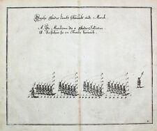 Barock Militär Exerzieren Füsilier Linear-Taktik Marsch Infanterie Feldwebel
