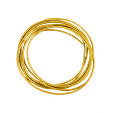 Round 1mm Leather Cord Shiny Finish (Antique Gold) - 1m Length (A76/1)