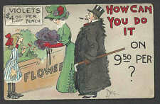 DATED 1910 VINTAGE PPC HOW CAN YOU DO IT FLOWER SALE BY DWIG, NEB