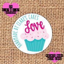 Personalised 24 handmade by cupcake kawaii cake maker love