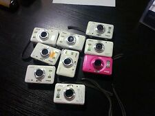 Nikon COOLPIX S30 10.1 MP Digital Camera -White & Pink Lot- FOR PARTS OR REPAIR