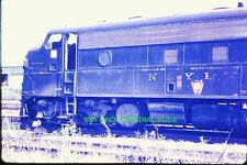 1968 Color Slide PRR Locomotive Degraded Condition In Clement Yard In Dayton, OH
