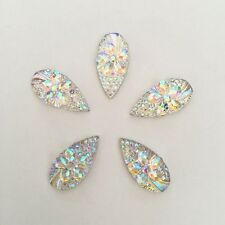 20PCS AB flower Flatback Resin Teardrop Rhinestone Wedding decoration 10mm*20mm