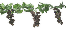 DARK BROWN CHOCOLATE Wisteria Garland  Silk Wedding Flowers  Arch Gazebo Decor