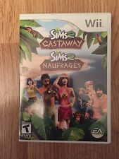 The Sims 2: Castaway Nintendo Wii Cib Game Mint Disk Complete Works W1