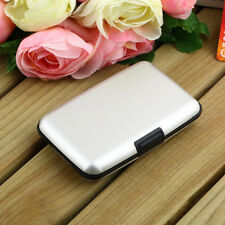 Lady Men Waterproof ID Credit Card Wallet Holder Aluminum Metal Pocket Case LJ