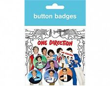 ONE DIRECTION set 1 - BUTTON BADGE PACK - SET OF 6 official merchandise