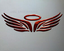 RED Chrome Effect Angel Halo Badge Decal Sticker for Rover 25 45 75 100 200 400