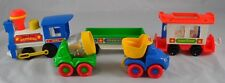 Lot of Fisher Price Express Train Happy Vehicles Cement Mixer Dump Truck   DD3P7