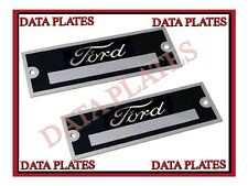 2X Ford DataPlate Serial Number ID Tag Hot Street Rod Rat Rod Ford Motor Company