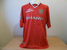 Manchester United RARA CHAMPIONS LEAGUE SHIRT JERSEY 1999 XL DA UOMO ORIGINALE