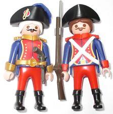Playmobil officier + garde français garde pirates 3111 personnage soldats rotrock