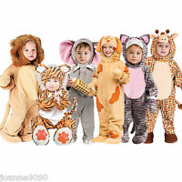 NEW DELUXE BOYS GIRLS BABY TODDLER CUTE ANIMAL ZOO FANCY DRESS HALLOWEEN COSTUME