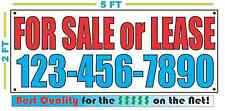 FOR SALE OR LEASE w Custom Phone Banner Sign NEW Best Quality for the $$$
