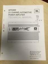 JBL Service Manual for the GTS300 Car Amplifier Amp      mp