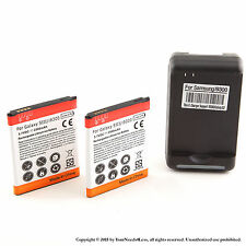 2 x 2500mAh Battery for Samsung Galaxy S III S3 i9300 i535 Dock Charger