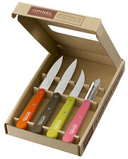 Opinel Kitchen Set Les Essentials 50' Colored Stained Handles 112, 113 ect 1452