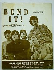 "DAVE DEE, DOZY, BEAKY, MICK & TICH ""BEND IT"" ORIGINAL SHEET MUSIC FROM 1960's"