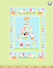 """Susybee's Norton cheese Quilt Top Green 100% cotton 43"""" fabric by the panel 36"""")"""