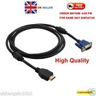 1080P HDMI Male to VGA Male Video Converter Adapter Cable for DVD HDTV PC -UK
