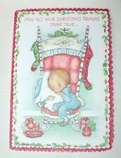 VINTAGE CHRISTMAS 1978 HALLMARK BETSY CLARK GREETING CARD W/ENVELOPE MINT