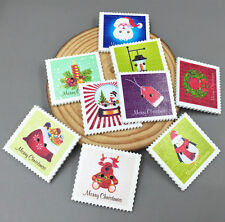 20pcs Christmas Holiday stamp Wooden Buttons Sewing Scrapbooking crafts 33mm