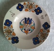 1 Fayence Majolika Teller plate piatto assiette datiert dated daté datato 1695