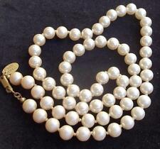 "MIRIAM HASKELL Vintage Necklace Elegant Opera Length 24"" Creamy Glass Pearls"
