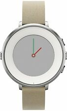 Pebble Time Round 14mm Smartwatch for Apple - Android Devices - Silver/Stone