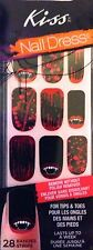 Kiss Nails NAIL DRESS Stick on Halloween # 59815 Ghouls Vampire Lips Fake Blood