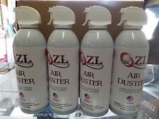 CASE OF 4 10OZ CANS ZL COMPUTERS CANNED AIR COMPRESSED AIR DUSTER WITH STRAW