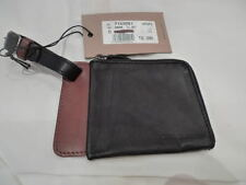 DSQUARED2 WRIST WALLET BLACK/BROWN 100%AUTHENTIC ITALY