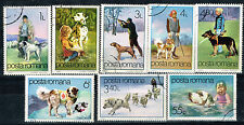 Romania Working Dogs 8 stamps set 1982