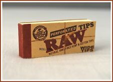 Raw 50 Wide Filter Tips - FULL Box Hemp Cotton Fibers of  Perforated Booklets !