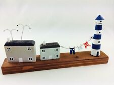 Shoeless Joe Wooden 'Wash Day at the Lighthouse' Nautical Seaside Home Decor