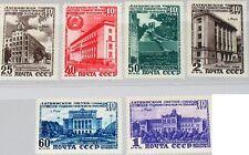 RUSSIA SOWJETUNION 1950 1494-99 1491-6 10th Ann Latvian SSR Soviet Republics MNH