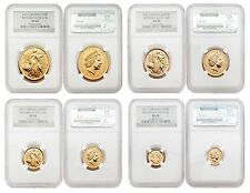Great Britain 2001 Britannia (Una and the Lion) 4 pc 1.85 oz Gold NGC MS-68 Set