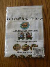 Sur La Table-BBQ Lovers 12 Days of Christmas Cotton Bar,Tea,Flour Sack Towel-New
